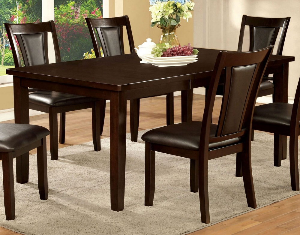 Emmons Dark Cherry Wood Dining Table W Leaf By Furniture Of America