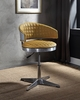 Brancaster Turmeric Top Grain Leather/Metal Office Chair by Acme