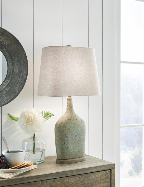 Signature Design Maribeth 2 Sage Paper Table Lamps by Ashley