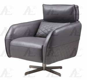 Shepherd Contemporary Grey Top Grain Leather Chair By Esf