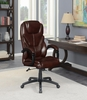 Jeltje Brown Leatherette Adjustable Office Chair by Coaster