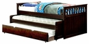 Gartel Espresso Wood Twin Nesting Daybed by Furniture of America