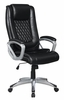 Lanthe Black Leatherette Adjustable Office Chair by Coaster
