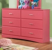 Prismo Pink Dresser by Furniture of America