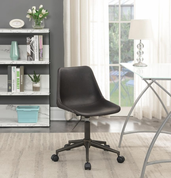 Mahsa Brown Leatherette Adjustable Office Chair by Coaster