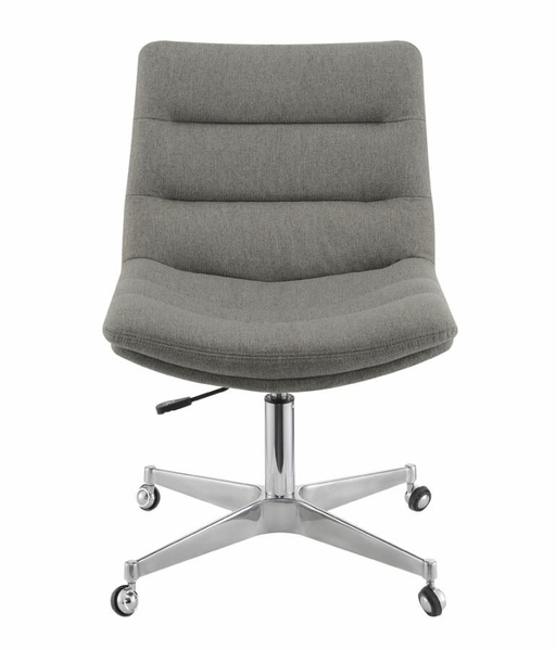 Yonit Grey Linen-Like Fabric Adjustable Office Chair by Coaster