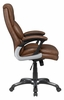 Foteini Brown Leatherette Adjustable Office Chair by Coaster