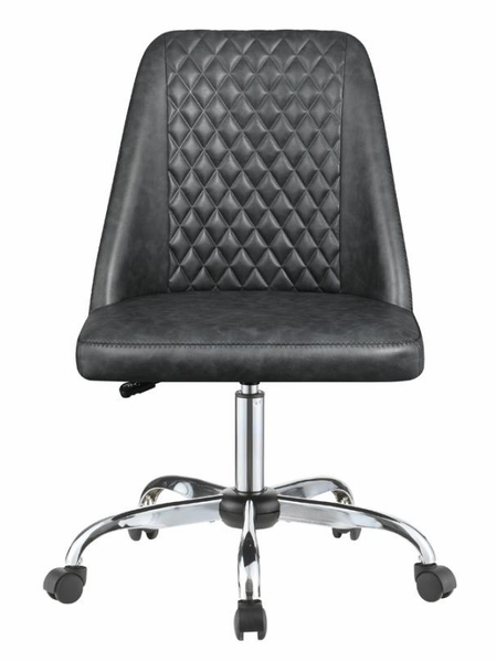 Wisdom Grey Leatherette Adjustable Office Chair by Coaster