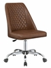 Wisdom Brown Leatherette Adjustable Office Chair by Coaster