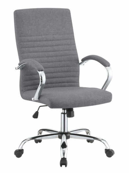 Nneka Grey Fabric Adjustable Office Chair by Coaster