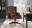 Csenge Brown Leatherette Adjustable Office Chair by Coaster