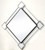 Asbury Mirrored/Chrome Metal Frame Wall Accent Mirror by Acme