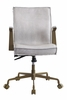 Attica Vintage White Top Grain Leather Executive Office Chair by Acme