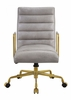 Bellville Vintage White Top Grain Leather Executive Chair by Acme