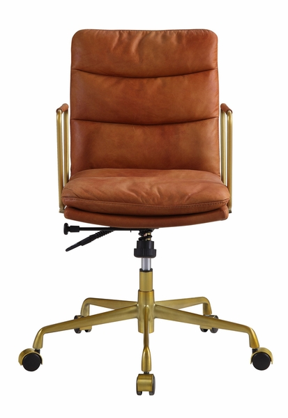 Dudley Rust Top Grain Leather Executive Office Chair by Acme