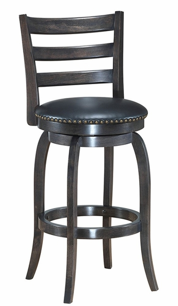 """Cherice Black PU Leather/Wood Counter Height Chair 29"""" by Asia Direct"""
