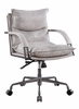 Haggar Vintage White Top Grain Leather Executive Office Chair by Acme
