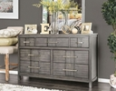 Berenice Gray Solid Wood Dresser by Furniture of America
