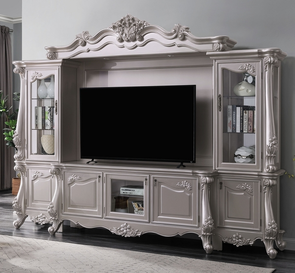 Bently Champagne Wood Entertainment Center with TV Stand by Acme