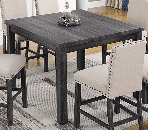 Helena Antique Grey Wood Counter Height Table by Best Master Furniture