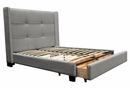 Beverly Light Grey Faux Linen Queen Bed w/Storage by Diamond Sofa