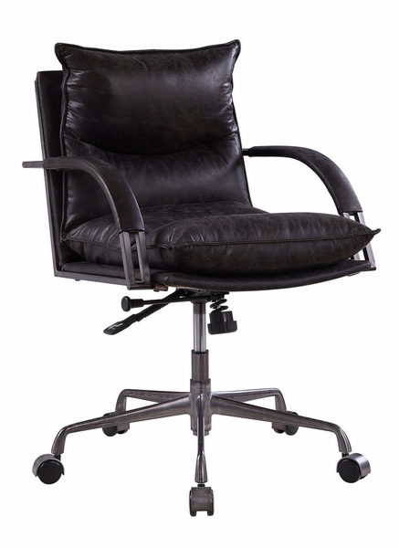 Haggar Antique Slate Top Grain Leather Executive Office Chair by Acme
