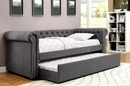 Leanna Gray Fabric Full Daybed (Oversized) by Furniture of America