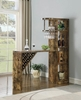 Syden Antique Nutmeg Wood Bar Table with Built-In Wine Rack by Coaster