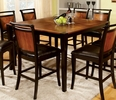 Salida Acacia & Black Counter Height Table by Furniture of America