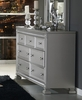 Bevelle Silver 7-Drawer Dresser with Acrylic Frame by Homelegance