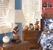 Signature Design Nyx Brown/Orange Poly Table Lamp by Ashley
