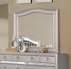 Ariston Silver Glass/Wood Frame Mirror by Furniture of America
