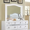 Ariston White Glass/Wood Frame Mirror by Furniture of America