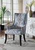 Audrey 2 Teal Grey Fabric Side Chairs by Best Master Furniture