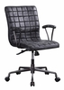 Barack Vintage Black Top Grain Leather Swivel Office Chair by Acme