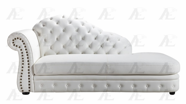 Lindy White Bonded Leather LAF Chaise by American Eagle Furniture