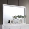 Chrissy White Solid Wood Mirror by Furniture of America