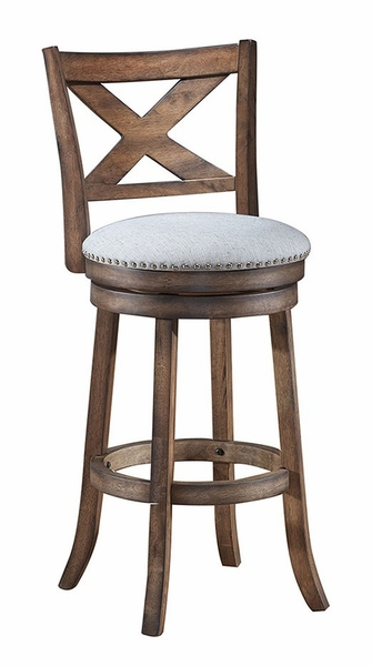 """Corinna Rustic Ash Wood/Fabric Counter Height Chair 24"""" by Asia Direct"""