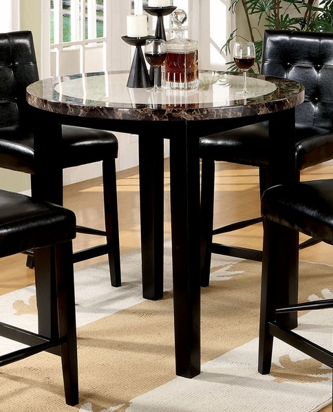 Atlas Black Round Counter Height Table by Furniture of America