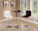 Nessa Black Plastic/Chrome Bar Table by Furniture of America