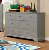 Diane Gray Solid Wood Dresser by Furniture of America