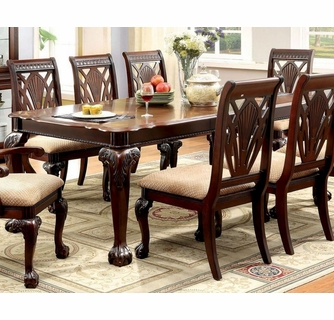 Petersburg Cherry Wood Dining Table, Cherry Wood Dining Room Set