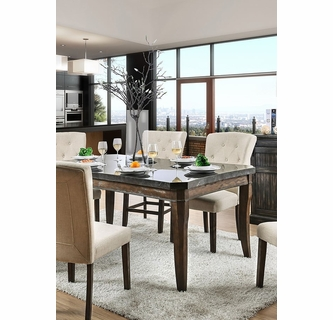 Schoten Rose Gold Wood Dining Table By Furniture Of America