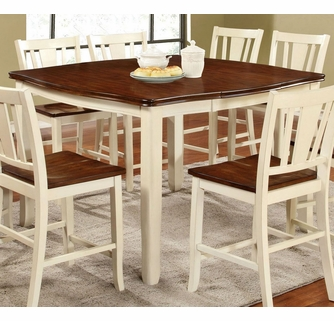 Dover White Cherry Wood Counter Height Table By Furniture Of America