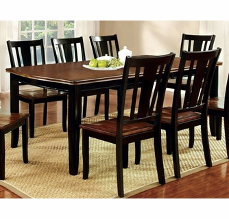 Dover Black Cherry Wood Dining Table W Leaf By Furniture Of America