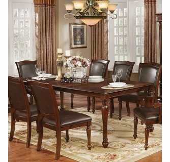 Sylvana Brown Cherry Wood Dining Table By Furniture Of America