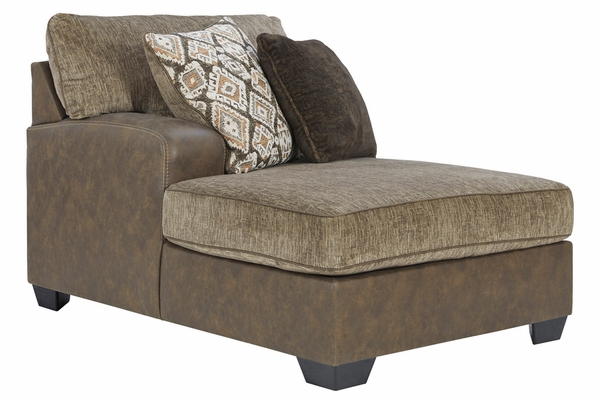 Benchcraft Abalone 3-Pc Chocolate LAF Sectional (Oversized) by Ashley