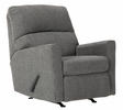 Benchcraft Dalhart Charcoal Fabric Manual Rocker Recliner by Ashley