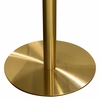 Stella Faux Marble Finish Wood/Gold Metal Bar Table by Diamond Sofa
