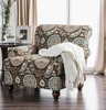 Amani Beige Linen-Like Fabric Chair by Furniture of America